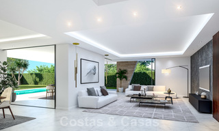 New innovative luxury villa in modern style for sale, beachside Elviria, Marbella 28640