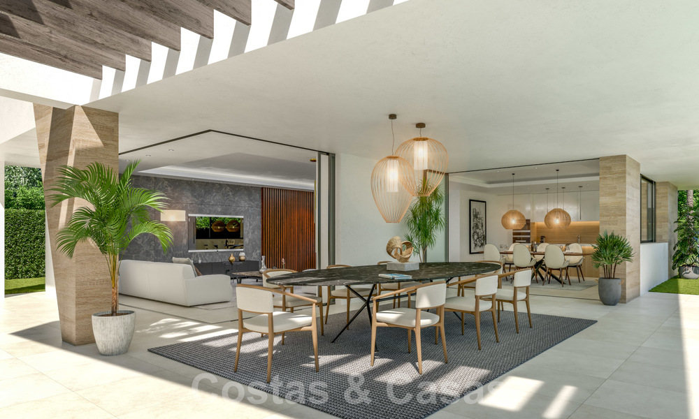 New innovative luxury villa in modern style for sale, beachside Elviria, Marbella 28642