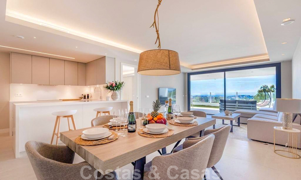 Spacious modern 3-bedroom luxury flat for sale with sea views and ready to move in, Nueva Andalucia, Marbella 28915