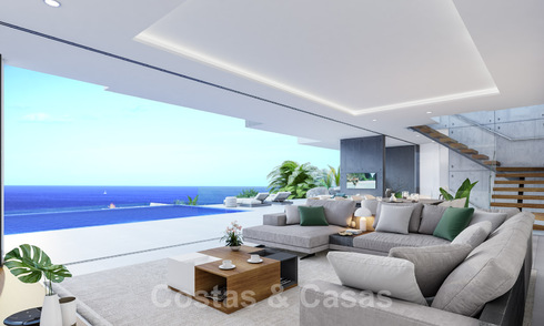 Stylish, new contemporary design villa for sale with panoramic views over the sea, near Estepona 28918