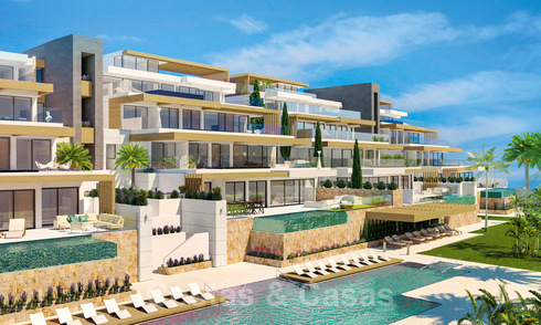 Spacious newly built apartments for sale with private pool in a gated resort in Benahavis - Marbella 29041