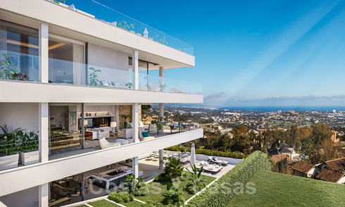 Luxurious modern apartments with panoramic sea views for sale in Benahavis - Marbella 29185