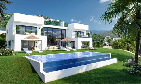 Modern new build villa with panoramic mountain- and sea views for sale in the hills of Marbella East 29571