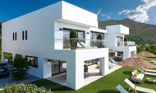 Modern new build villa with panoramic mountain- and sea views for sale in the hills of Marbella East 29572
