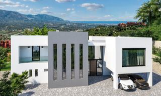 Modern new build villa with panoramic mountain- and sea views for sale in the hills of Marbella East 29573