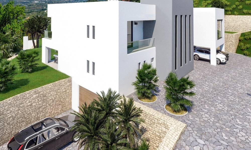 Modern new build villa with panoramic mountain- and sea views for sale in the hills of Marbella East 29574