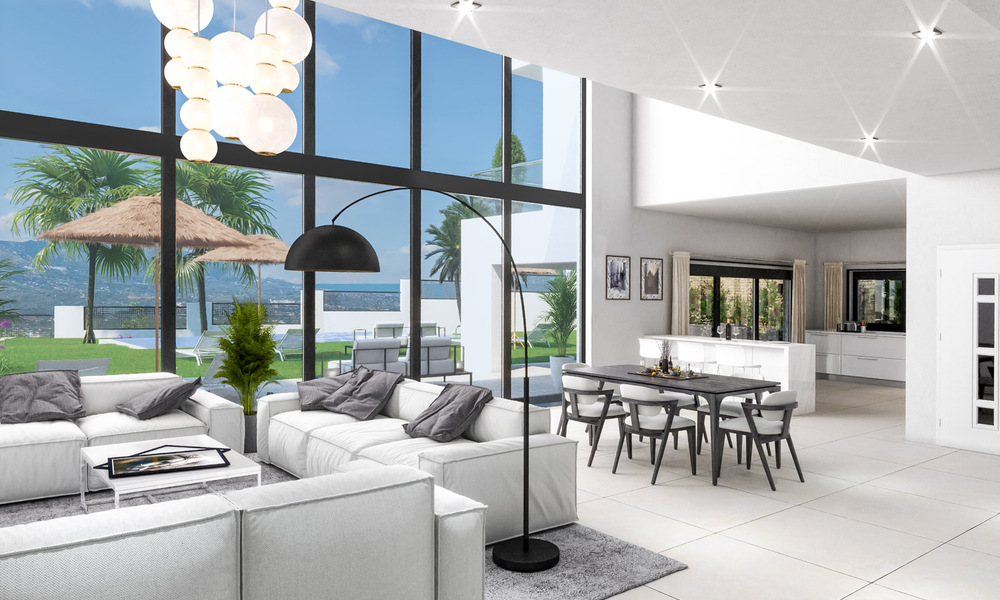 Modern new build villa with panoramic mountain- and sea views for sale in the hills of Marbella East 29575