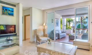 Spacious luxury corner apartment for sale in frontline beach complex within walking distance of Estepona centre 29666