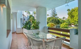Spacious luxury corner apartment for sale in frontline beach complex within walking distance of Estepona centre 29679