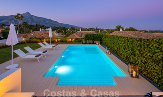 Stylish renovated villa for sale with beautiful views of the mountain range in Nueva Andalucia - Marbella, walking distance to amenities 30313
