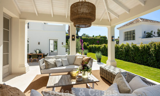2 Elegant top quality new luxury villas for sale in a classic and Provencal style above the Golden Mile in Marbella 30460