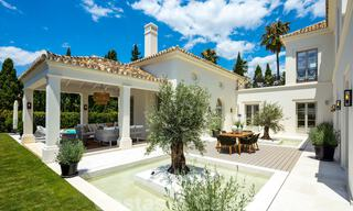 2 Elegant top quality new luxury villas for sale in a classic and Provencal style above the Golden Mile in Marbella 30472