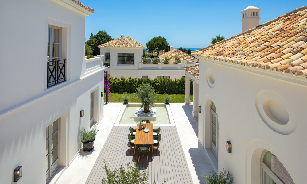 2 Elegant top quality new luxury villas for sale in a classic and Provencal style above the Golden Mile in Marbella 30473