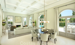 2 Elegant top quality new luxury villas for sale in a classic and Provencal style above the Golden Mile in Marbella 30475