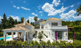 2 Elegant top quality new luxury villas for sale in a classic and Provencal style above the Golden Mile in Marbella 30477