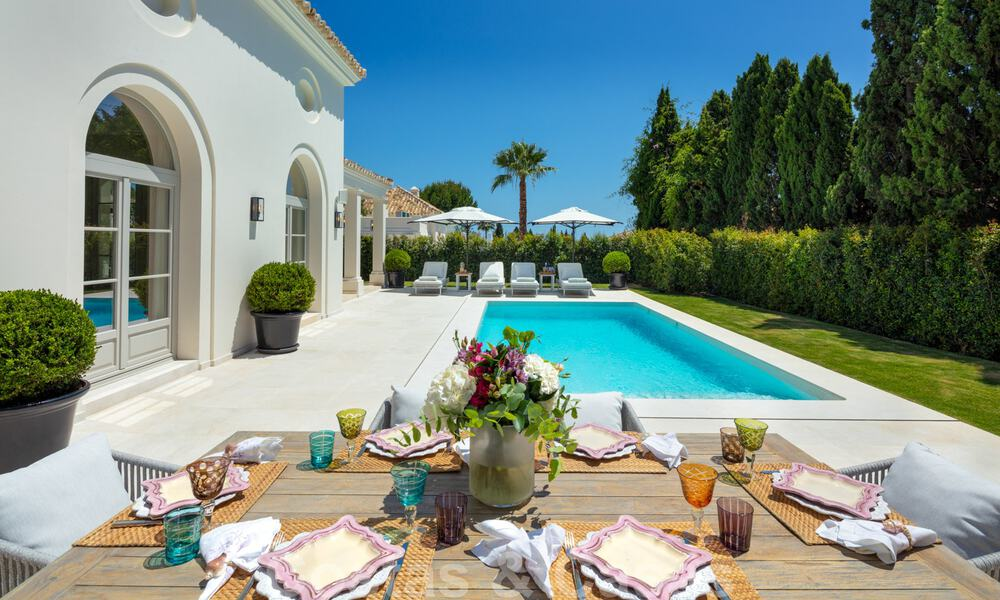 2 Elegant top quality new luxury villas for sale in a classic and Provencal style above the Golden Mile in Marbella 30478