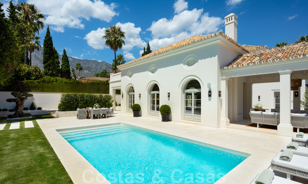 2 Elegant top quality new luxury villas for sale in a classic and Provencal style above the Golden Mile in Marbella 30479