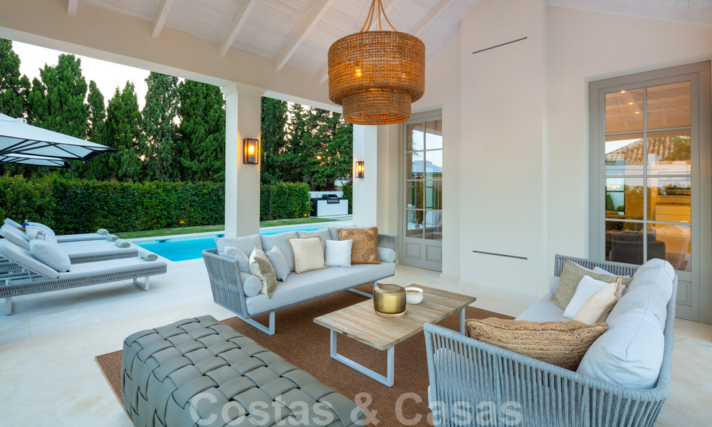 2 Elegant top quality new luxury villas for sale in a classic and Provencal style above the Golden Mile in Marbella 30485