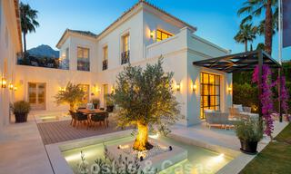 2 Elegant top quality new luxury villas for sale in a classic and Provencal style above the Golden Mile in Marbella 30488