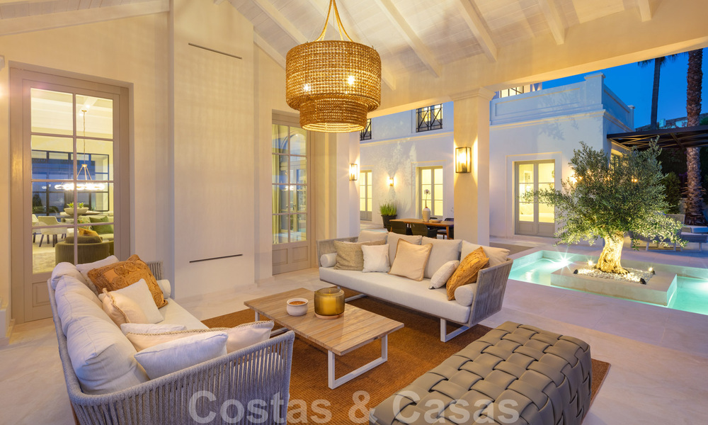 2 Elegant top quality new luxury villas for sale in a classic and Provencal style above the Golden Mile in Marbella 30490