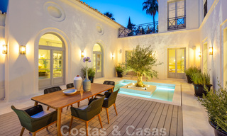 2 Elegant top quality new luxury villas for sale in a classic and Provencal style above the Golden Mile in Marbella 30491