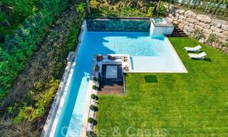 Ready to move in modern villa for sale within walking distance to amenities and Puerto Banus in Nueva Andalucia, Marbella 30700