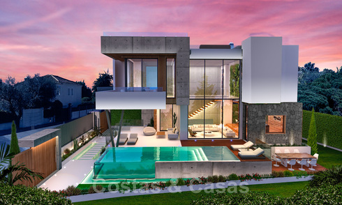 Contemporary luxury villa for sale in a highly desirable beachside urbanisation on the Golden Mile in Marbella 30774