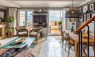 Renovated penthouse apartment for sale with sea views and within walking distance to all amenities and Puerto Banus in Nueva Andalucia, Marbella 31178