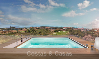 Modern new build villa for sale, directly on the golf course with panoramic golf, mountain and sea views in Estepona 30869