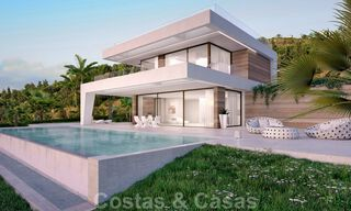 Modern new build villa for sale, directly on the golf course with panoramic golf, mountain and sea views in Estepona 30871