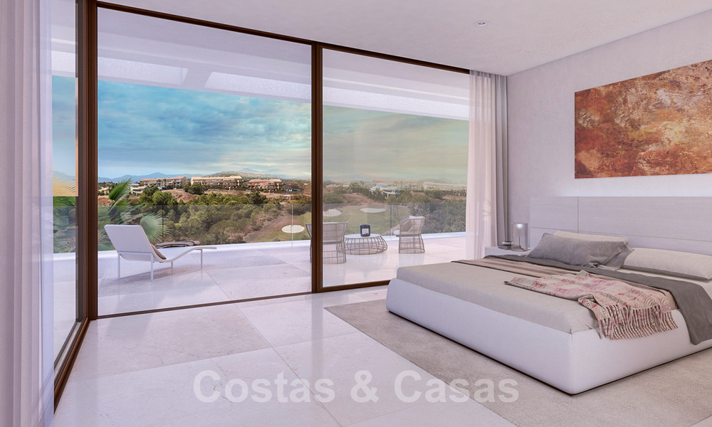 Modern new build villa for sale, directly on the golf course with panoramic golf, mountain and sea views in Estepona 30872