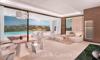 Modern new build villa for sale, directly on the golf course with panoramic golf, mountain and sea views in Estepona 30873
