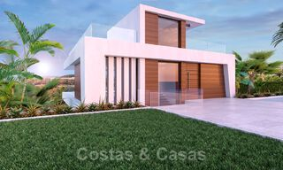 Modern new build villa for sale, directly on the golf course with panoramic golf, mountain and sea views in Estepona 30874