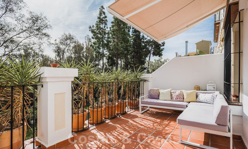 Renovated family home for sale in gated complex close to Puente Romano on the Golden Mile in Marbella 31286