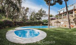 Renovated family home for sale in gated complex close to Puente Romano on the Golden Mile in Marbella 31291