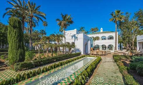 Unique Andalusian-Moorish style mansion at walking distance to the beach and the golf course for sale in west Marbella 31330