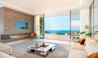 Modern luxury villa with spectacular panoramic sea views for sale on the Costa del Sol. Near completion. 31332