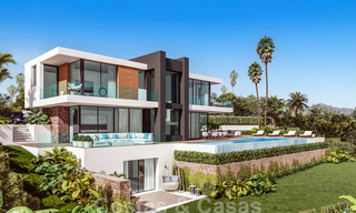 Modern luxury villa with spectacular panoramic sea views for sale on the Costa del Sol. Near completion. 31336