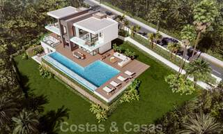Modern luxury villa with spectacular panoramic sea views for sale on the Costa del Sol. Near completion. 31337
