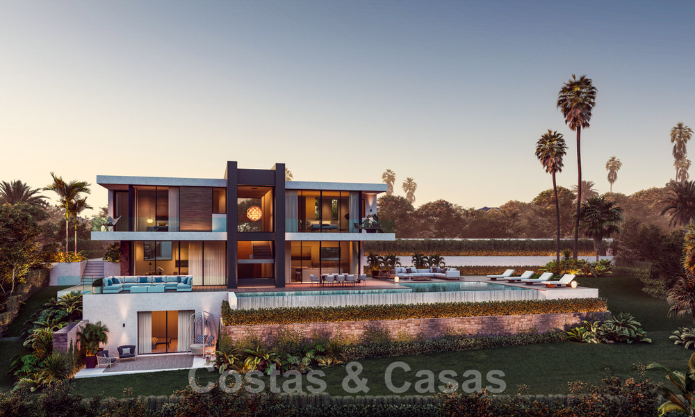Modern luxury villa with spectacular panoramic sea views for sale on the Costa del Sol. Near completion. 31338