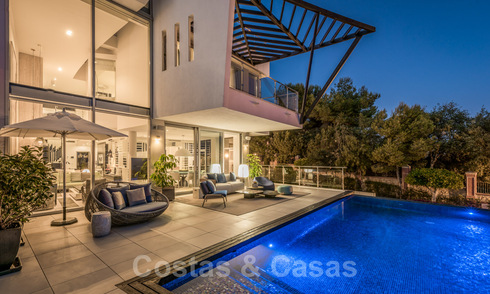 Prime location, modern designer house for sale in the hills of Marbella, above the Golden Mile in Sierra Blanca 31520