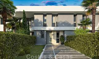New, modern townhouses for sale, some with golf- and sea views, frontline golf in Estepona 31535