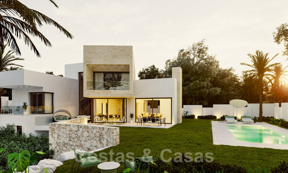 Modern new villas with sea views for sale, located in a gated and secure community in Benahavis - Marbella 31566