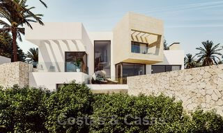 Modern new villas with sea views for sale, located in a gated and secure community in Benahavis - Marbella 31568