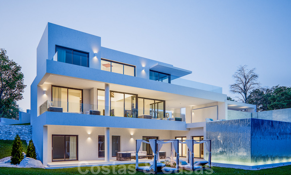 Modern new villas with sea views for sale, located in a gated and secure community in Benahavis - Marbella 31572