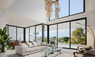 Modern new villas with sea views for sale, located in a gated and secure community in Benahavis - Marbella 31574