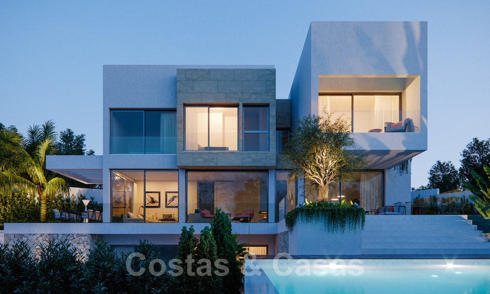 Modern new villas with sea views for sale, located in a gated and secure community in Benahavis - Marbella 31577