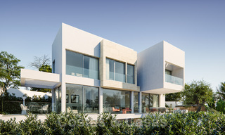 Modern new villas with sea views for sale, located in a gated and secure community in Benahavis - Marbella 31578