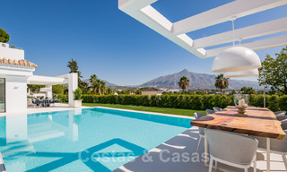 Refurbished luxury villa in contemporary style for sale, close to amenities in the golf valley of Nueva Andalucia, Marbella 31763