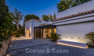 Refurbished luxury villa in contemporary style for sale, close to amenities in the golf valley of Nueva Andalucia, Marbella 31785